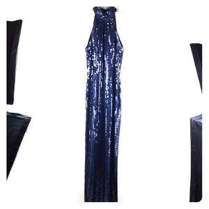 Stenay Formal Dress Maxi Sequins Choker Neck Sz 6